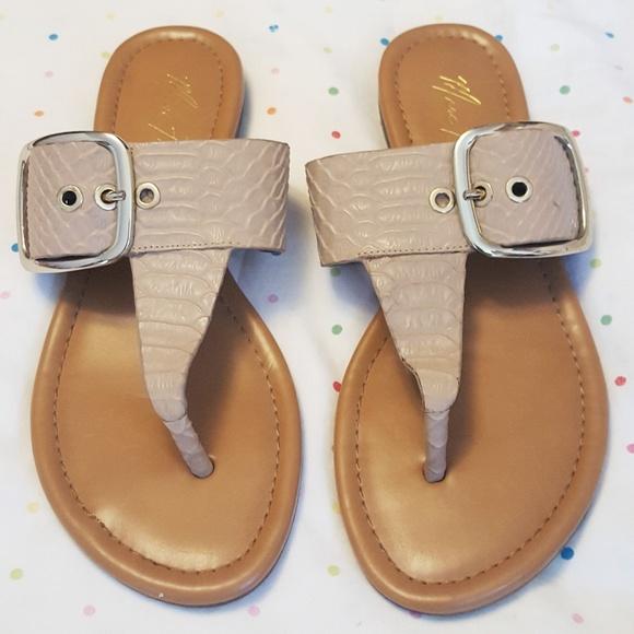 03c858538 ... Nude Croc Skin Buckle Sandals 8.5. M 5ca558428d653df1dcd1f00a